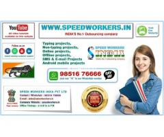 SPEED WORKERS INDIA Pvt Ltd Offering jobs for all, Home based Jobs Online and Offline jobs also