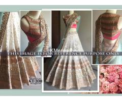 OFF WHITE SEQUENCE NET BEAUTIFUL LEHENGA WITH BLOUSE