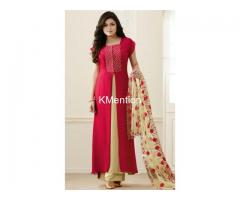 Red dress with Dupatta