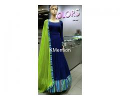 SUPER QUALITY PURE VELVET FULL STITCHED GOWN