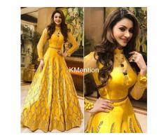 Yellow sequence lehenga choli