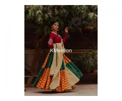 Navratri yellow dh printed lehenga choli