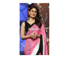 Karina Kapoor pink and black sadee - Image 1/2