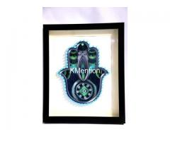 Home Decoration Handmade Paper art Hamsa hand frame Aadhi Creation