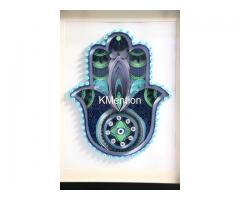Home Decoration Handmade Paper art Hamsa hand frame Aadhi Creation - Image 3/8