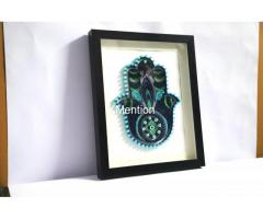 Home Decoration Handmade Paper art Hamsa hand frame Aadhi Creation - Image 4/8