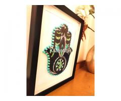 Home Decoration Handmade Paper art Hamsa hand frame Aadhi Creation - Image 6/8