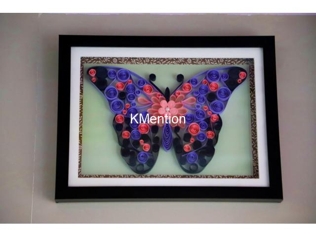 Put your Home in Butterfly frame for perfect home decoration made by hand - 1/8