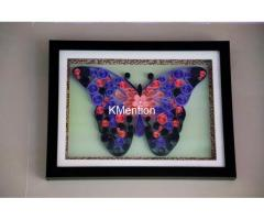 Put your Home in Butterfly frame made by hand Quilling paper craft