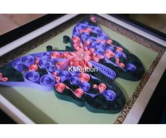 Put your Home in Butterfly frame for perfect home decoration made by hand
