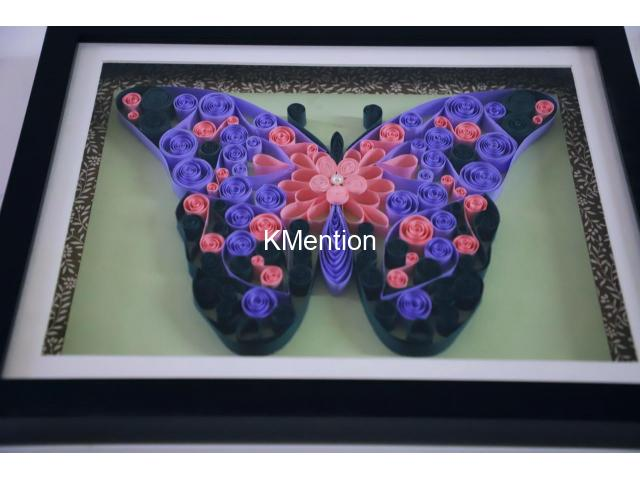 Put your Home in Butterfly frame for perfect home decoration made by hand - 3/8