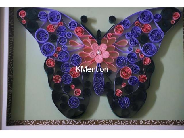Put your Home in Butterfly frame for perfect home decoration made by hand - 4/8