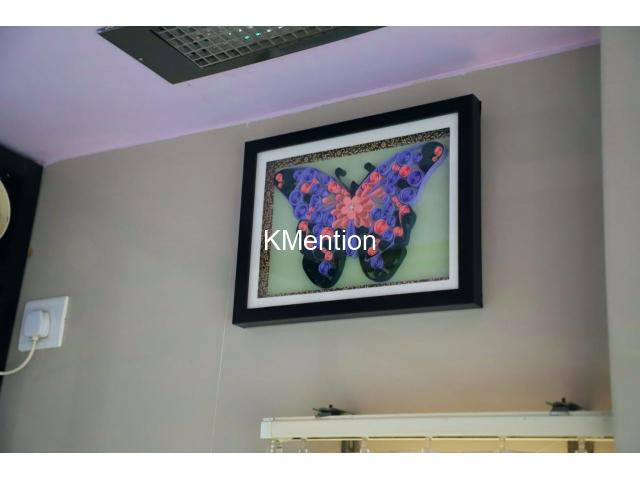Put your Home in Butterfly frame for perfect home decoration made by hand - 5/8