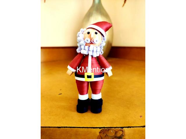 Quilling Santa Claus for gift your Child on Christmas - 1/8