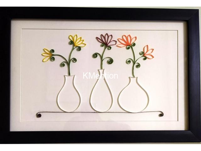 Aadhi Creation Unique Flower-Port frame for gift to someone special on any Occasion - 1/9