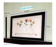 Aadhi Creation Unique Flower-Port frame for gift to someone special on any Occasion - Image 4/9