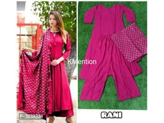 FESTIVAL WEAR DESIGNER RAYON KURTA SETS. DEV FASHION WORLD - 6/9