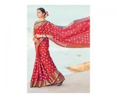 SATRANGI HANDLOOM SAREE. DEV FASHION WORLD.
