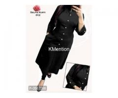 SOLID RAYON SELFI STYLE KURTI. DEV FASHION WORLD
