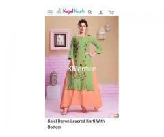KAJAL STYLE KURTI.  DEV FASHION WORLD.