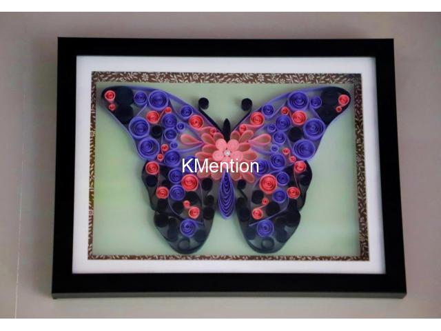 Innovative gifts for Birthday Abstract Butterfly art work Aadhi Creation - 1/1