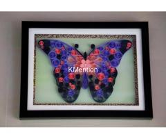 Innovative gifts for Birthday Abstract Butterfly art work Aadhi Creation